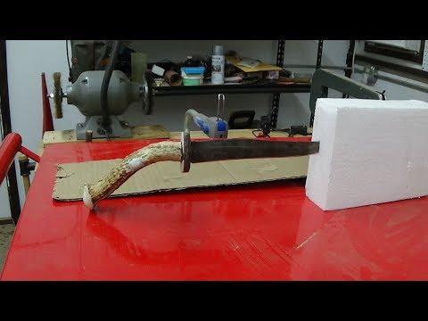 Reworking a Homemade Deer Antler Knife