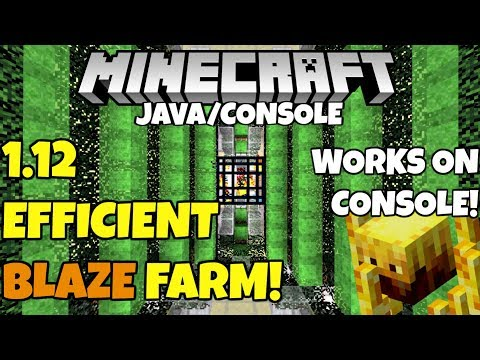 Minecraft 1.12 FAST Efficient BLAZE FARM Tutorial! Works On Console! PC Xbox Ps4 Ps3 Xbox 360 Switch