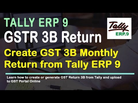 Generate Form GSTR 3B in Tally Release 6