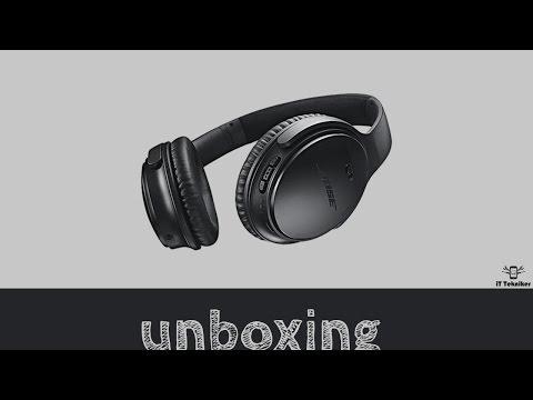 Bose QuietComfort 35 Wireless Headphones quick unboxing