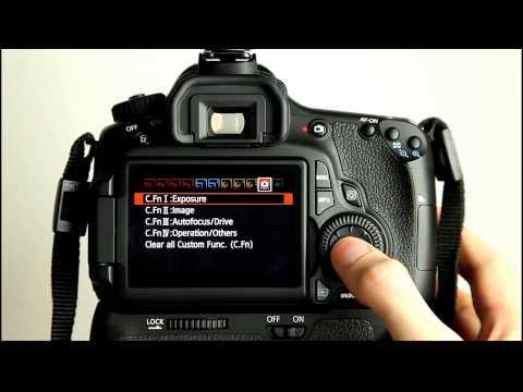 Canon EOS 60D Tutorial 12   Custom Function Menu 1 Exposure
