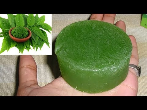 How to Make Neem Soap At Home // NEEM Soap For Acne,Pimples,Spotless, Skin Whitening