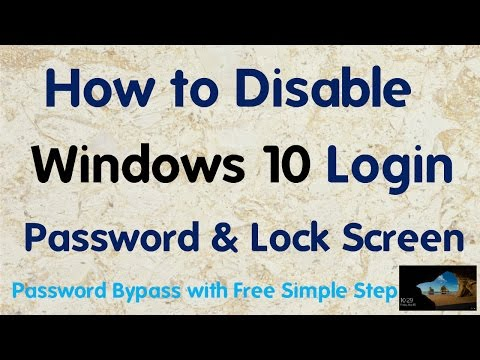 [Hindi] How to Disable Windows 10 Login password & Lock Screen With Free Simple Step