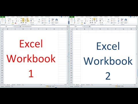 How to open and view 2 Excel workbooks at the same time