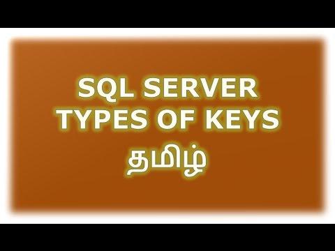 SQL Server Types of Keys in Tamil