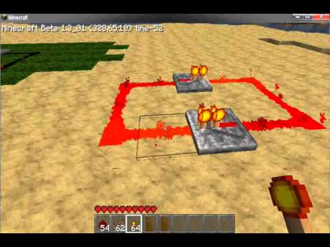 Minecraft - How to Make a Simple But Fast Clock With Redstone
