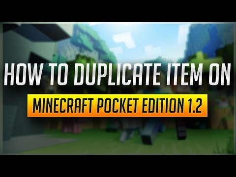 How to duplicate item on Minecraft Pocket Edition 1.2!