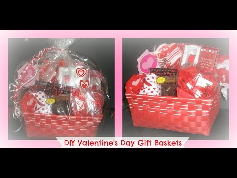 how to make a valentine's day gift basket from the dollar store/ Gift Basket/Package