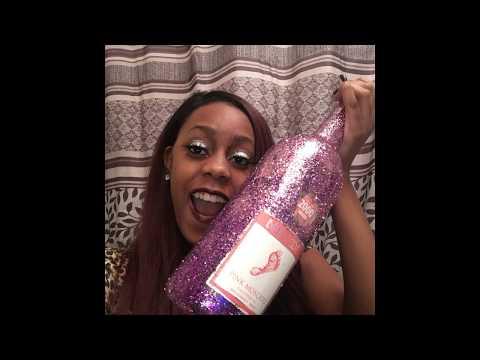 $4 DIY Glitter Wine Bottle craft!! Great Room Decor or 21st birthday gift!