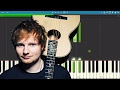 Ed Sheeran - Supermarket Flowers - Piano Tutorial - Instrumental Backing Track / Karaoke