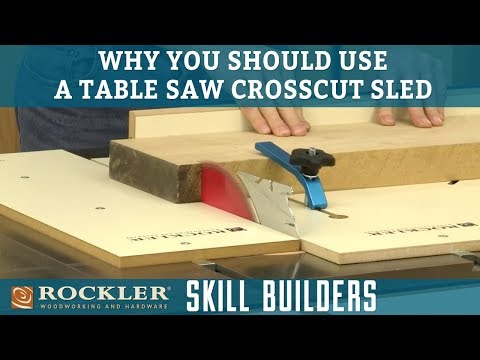 Four Reasons to Use a Table Saw Crosscut Sled | Rockler Skill Builders