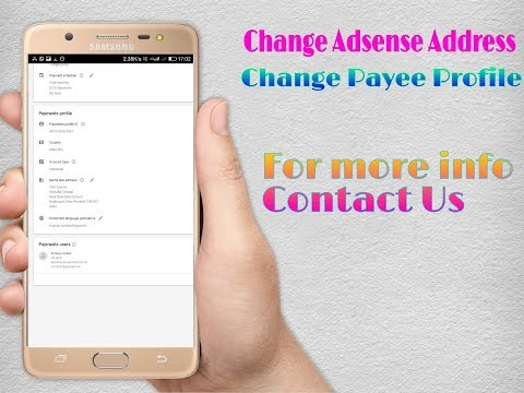 How to Change Your Address in Google AdSense Account | Change Primary Users