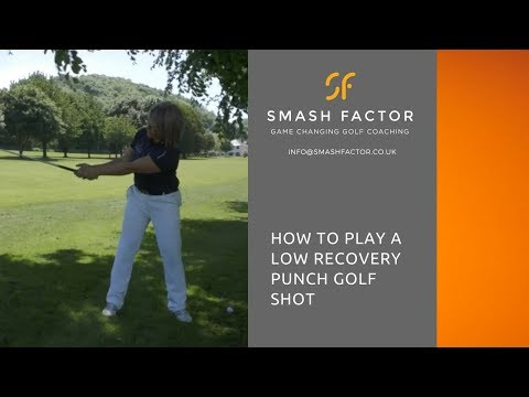 How to play a solid, low trajectory recovery golf shot