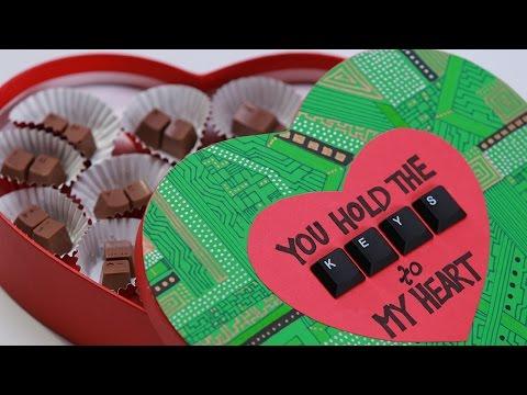 COMPUTER KEYBOARD CHOCOLATES - NERDY NUMMIES