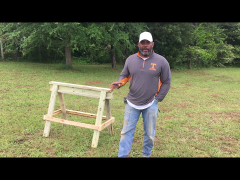How to build saw horses