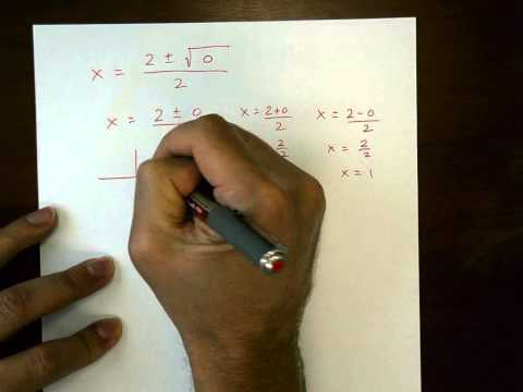 Understanding the Quadratic Formula and the value of the DISCRIMINANT