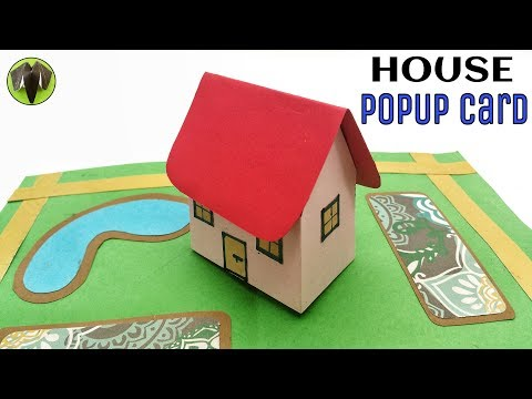 3D House Popup card - DIY Tutorial - 902