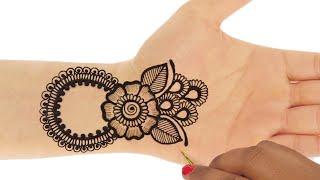 Latest 3D Ornamental Mehndi Design for Hands | Easy Mehndi Design for Hands #127 @ jaipurthepinkcity