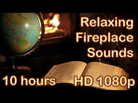 ✰ 10 HOURS ✰ FIREPLACE SOUNDS for sleeping ♫ Crackling Fire ✰ Relaxing fire sounds ✰ Sleep, Insomnia