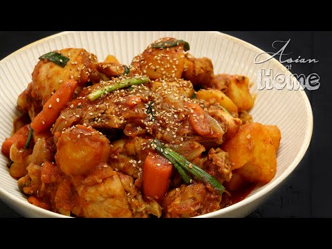 Dakbokkeumtang (Korean Spicy Chicken Stew)