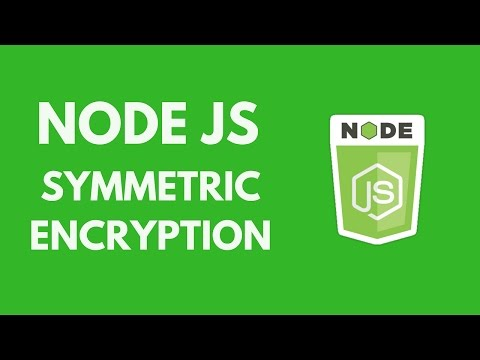 NodeJs - Symmetric Encryption (Module Crypto)