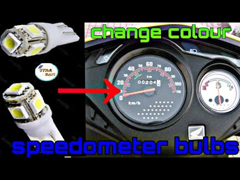 Change SPEEDOMETER COLOUR|DIO SPEEDOMETER BULBS/led bulbs in speedometer