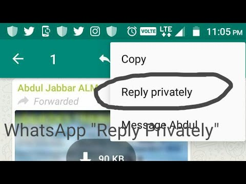 How to Use WhatsApp Private Reply Feature in Group Chats on Android Beta (2.18.342)