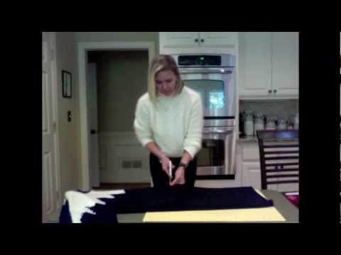 DIY sweater dress refashioning project