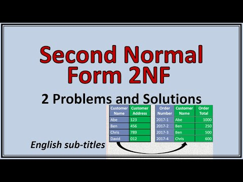Data Base Normalization - Second Normal Form