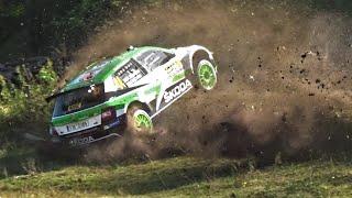WRC Rallye Deutschland 2018 Shakedown  |  ROVANPERÄ CRASH & CLOSE CALLS