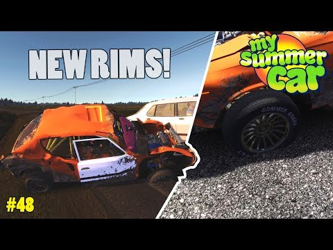 New Wheels! - Flat Tire | My Summer Car Beta