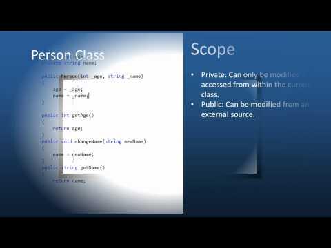 C# Tutorial - Episode 6: Scope, Classes, Methods, and Functions