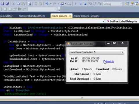VB.NET network bandwidth monitor