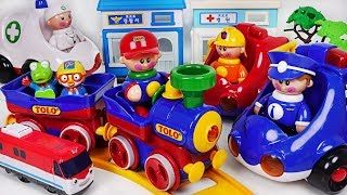 Download Tolo police car, ambulance, fire truck, train All Together! #PinkyPopTOY Video