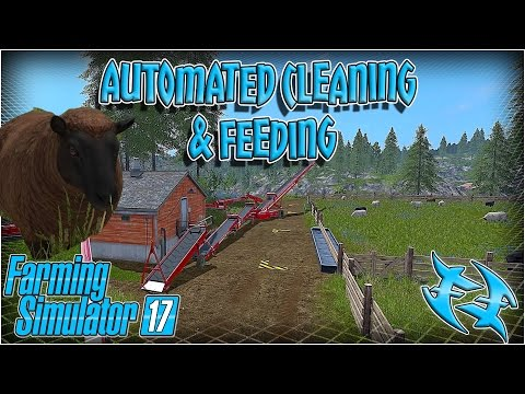 Farming Simulator 17  - Automatic Animal Cleaning / Feeding - Farming Sim 17 FS 17 #xxfastfingersxx
