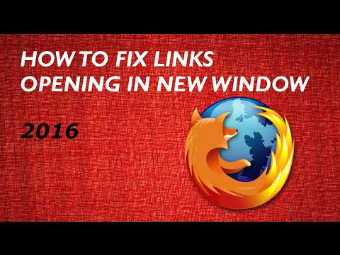 How to fix links opening in new window in Mozilla