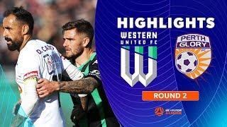 Highlights: Western United FC 1-1 Perth Glory – Round 2 Hyundai A-League 2019/20 Season