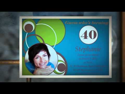 40th Birthday Invitations by Impressive Invitations