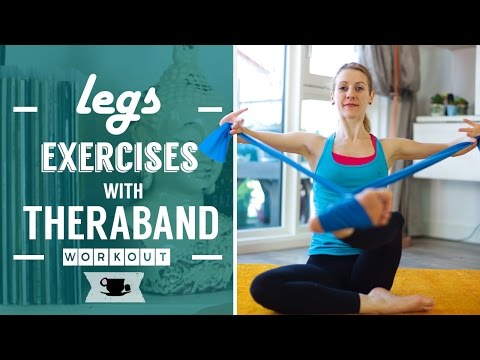 Legs Exercises with Theraband | Lazy Dancer Tips