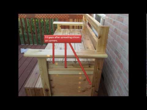 How to build Outdoor Weather Resistant  Multi Function  Storage Bench