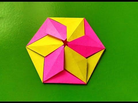 Easy origami coaster! Best DIY coaster! Paper coaster. Tato origami