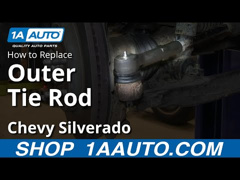 How To Install Replace Outer Tie Rod 2007-13 Chevy Silverado GMC Sierra 1500