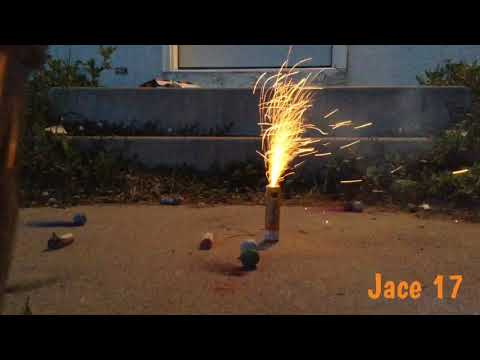 FIREWORKS 2018- Lighting Ground Spinners, Smoke Bombs, And Crackling Balls.
