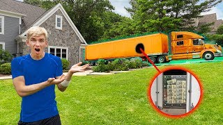 Download GIANT MONEY TRUCK DELIVERS $1MILLION DOLLARS to SHARER FAM HOUSE! (UNBREAKABLE BOX CHALLENGE REVEAL) Video