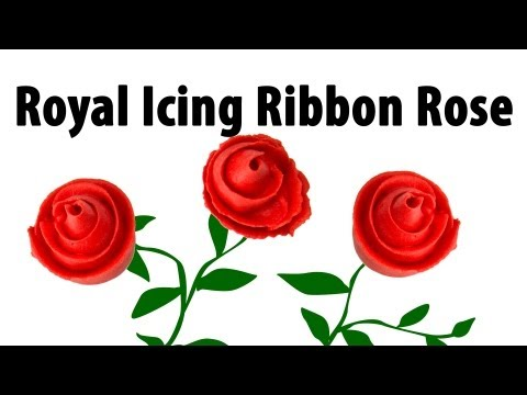 How to Make a Royal Icing Ribbon Rose by Cookies Cupcakes and Cardio