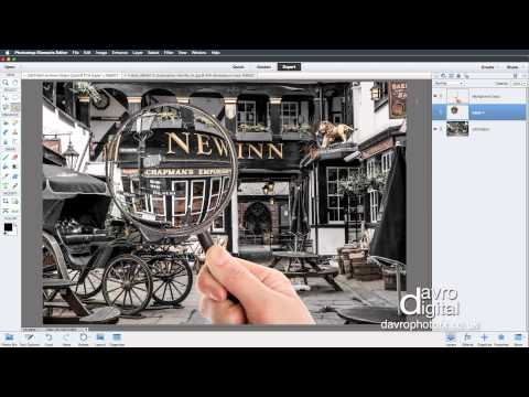 How to Make a Magnifying Glass Effect in Photoshop Elements