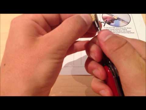 How to cut iPhone 5 nano sim