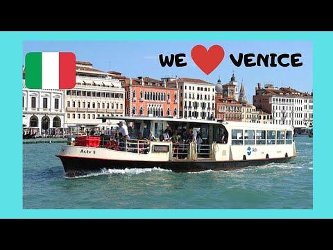 VENICE, Vaporetto (boat) ride to beautiful MURANO, ITALY