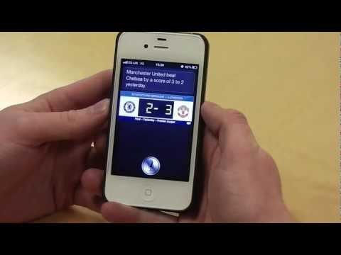 Siri on iOS6 iPhone