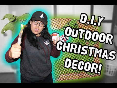 Making A Life-Sized Oogie Boogie! // D.I.Y Christmas Decoration!